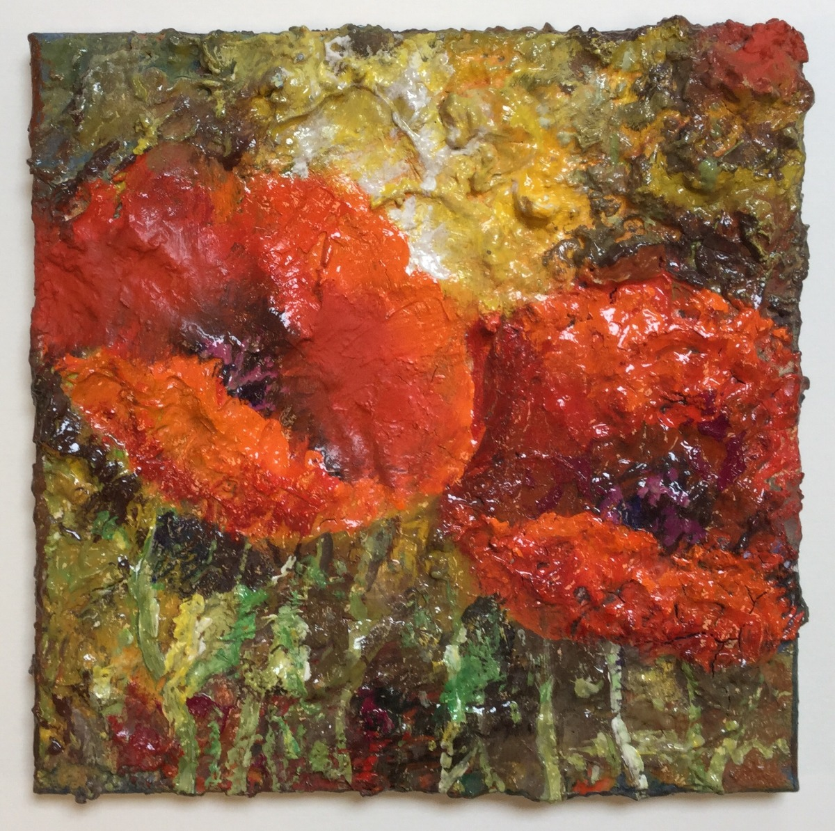 Textured Poppies by Guenter Burr