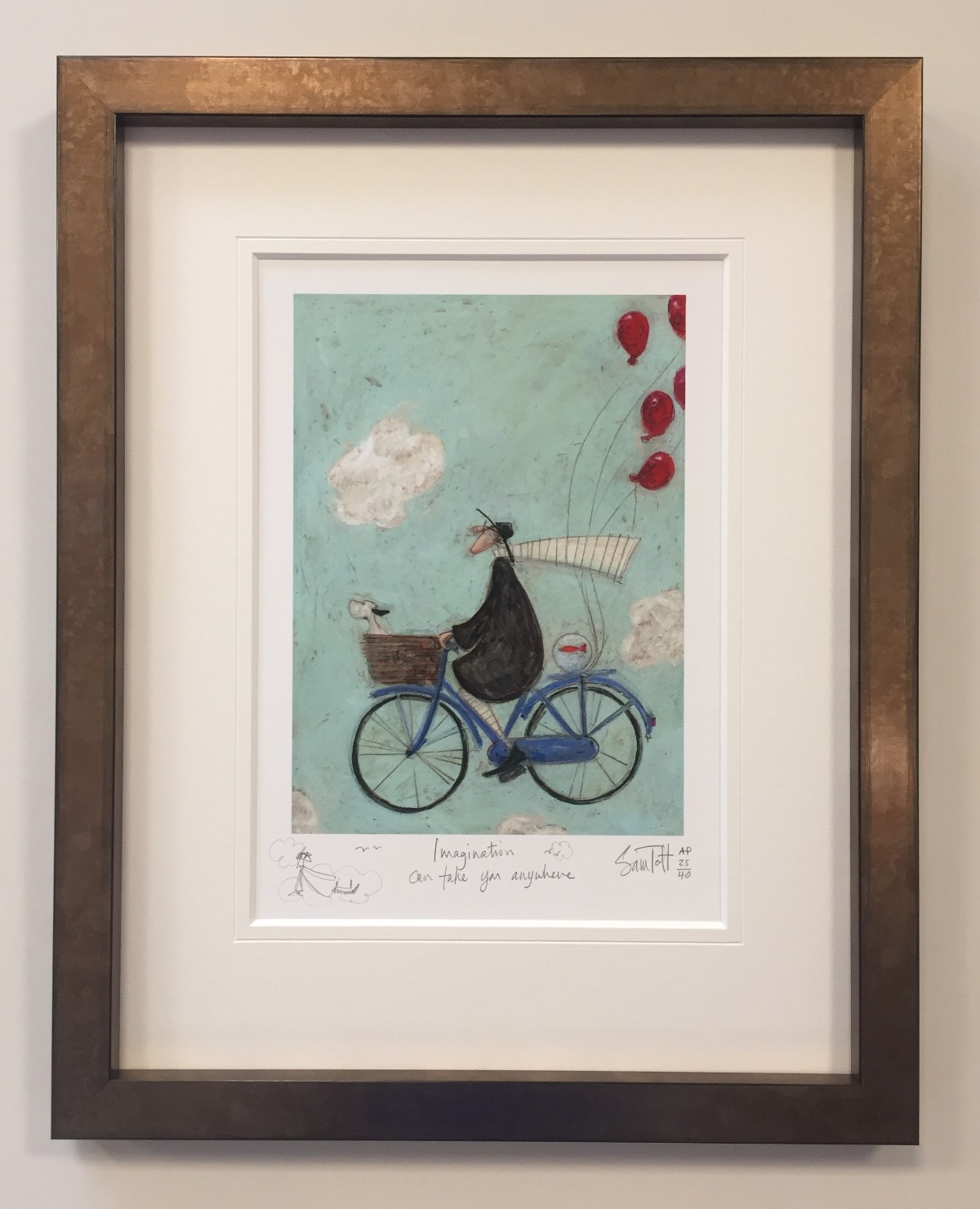 Imagination can take you Anywhere (AP Remarque) by Sam Toft