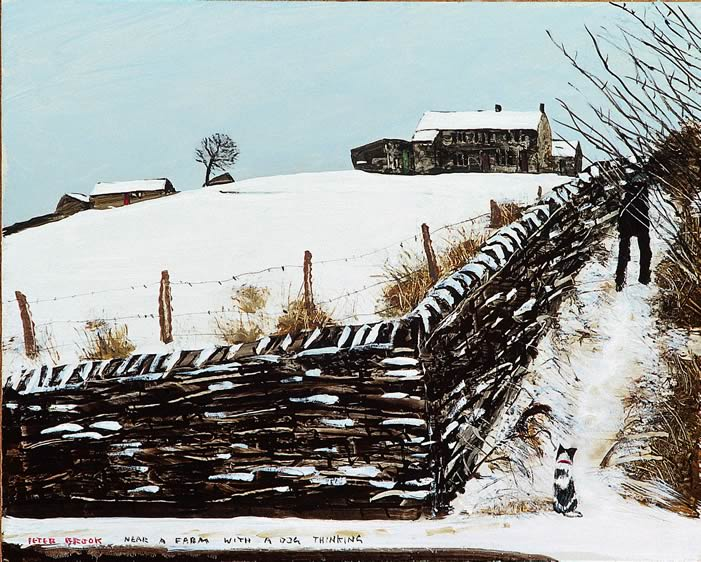Near A Farm With A Dog Thinking by Peter Brook