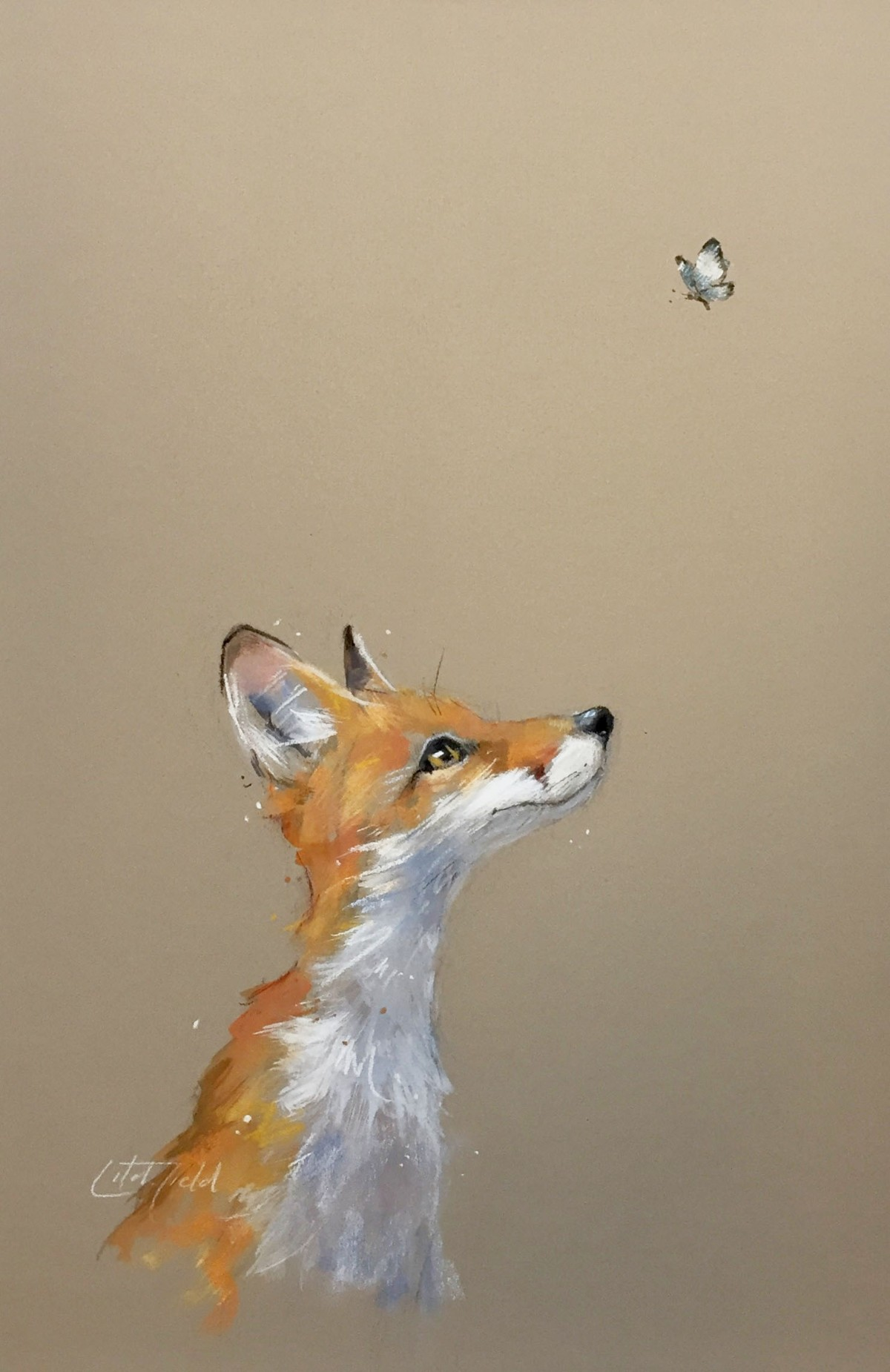 Fox and Butterfly by Nicky Litchfield
