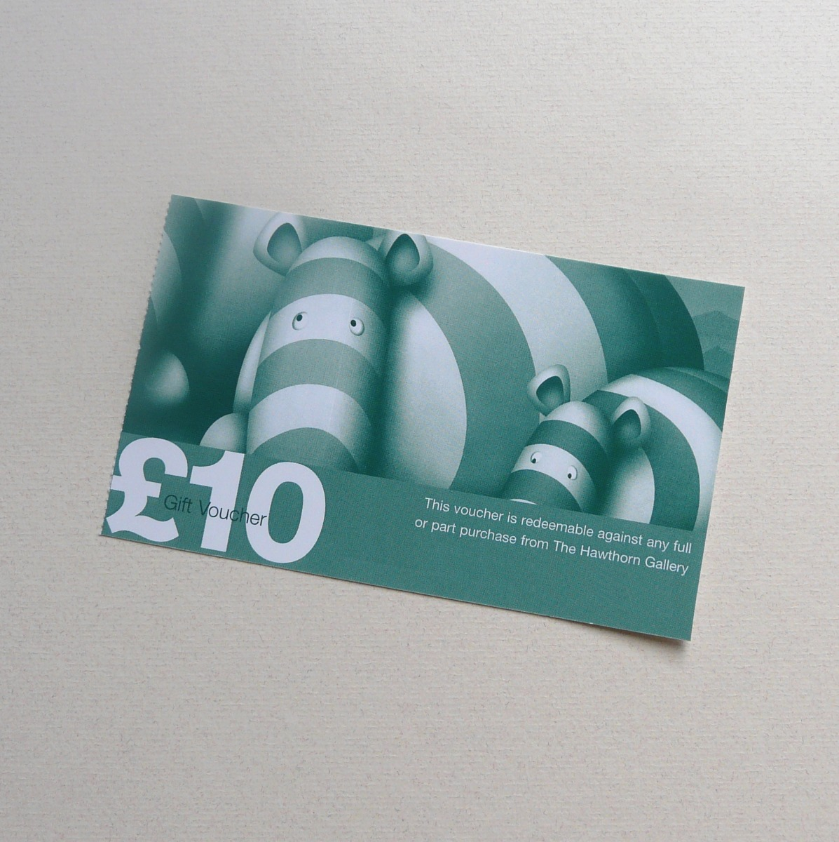\u00A310 Gift Voucher by The Hawthorn Gallery