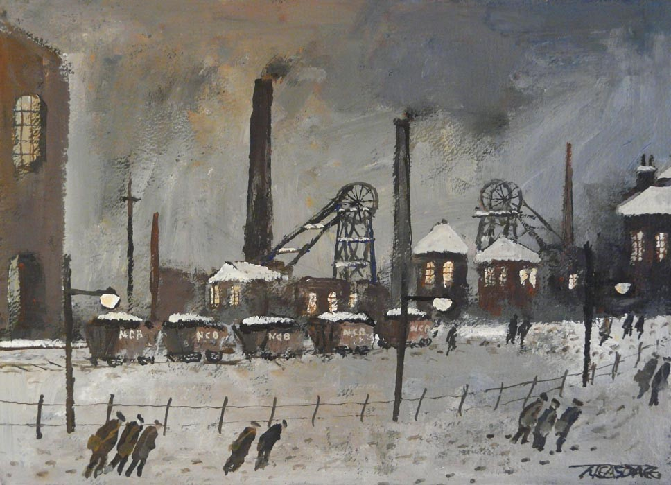Coal Wagons by Malcolm Teasdale