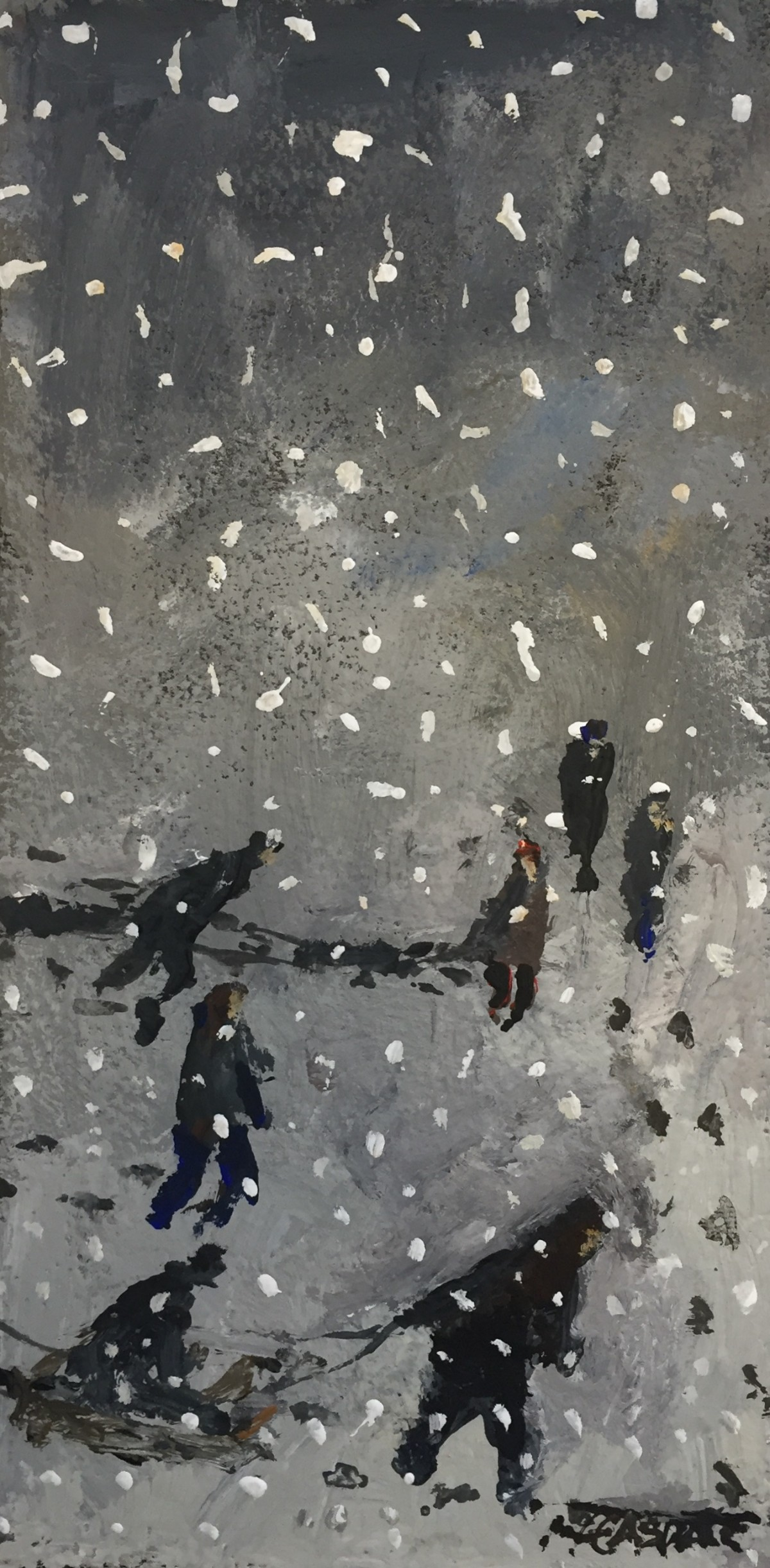 Caught in a Blizzard by Malcolm Teasdale