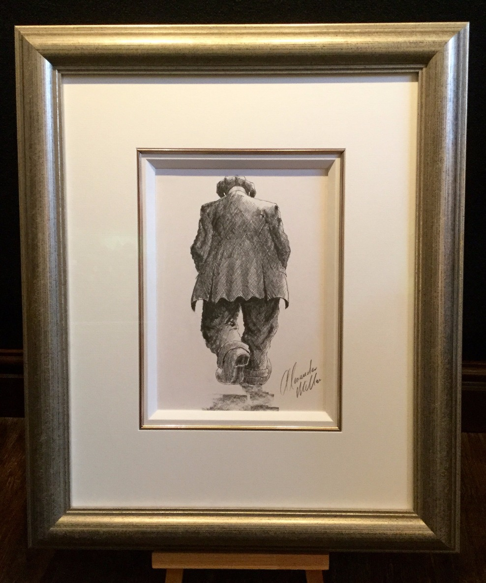 Just out for a Stroll by Alexander Millar, Gadgie | Northern | Nostalgic | Figurative