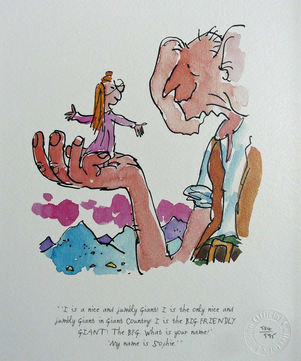 I is a nice and jumbly Giant! by Quentin Blake