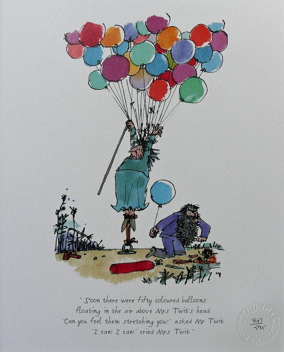 Soon there were fifty coloured balloons by Quentin Blake