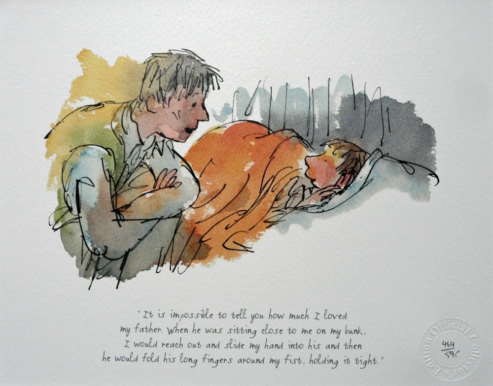 How much I loved my father by Quentin Blake