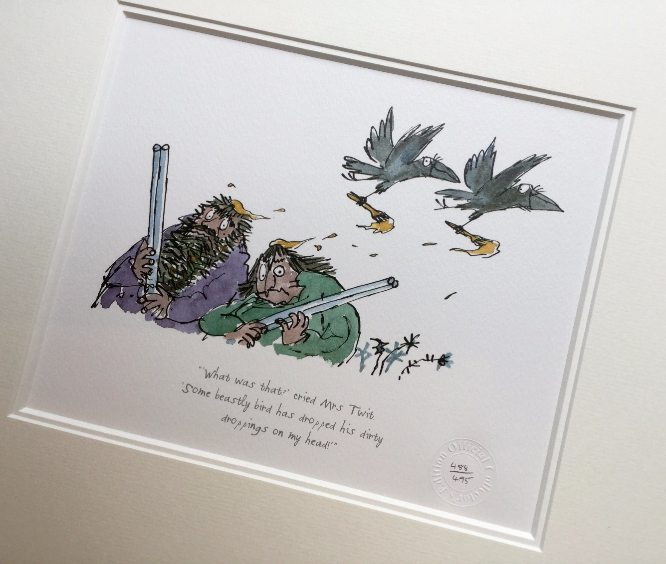 What was that? Cried Mrs Twit by Quentin Blake