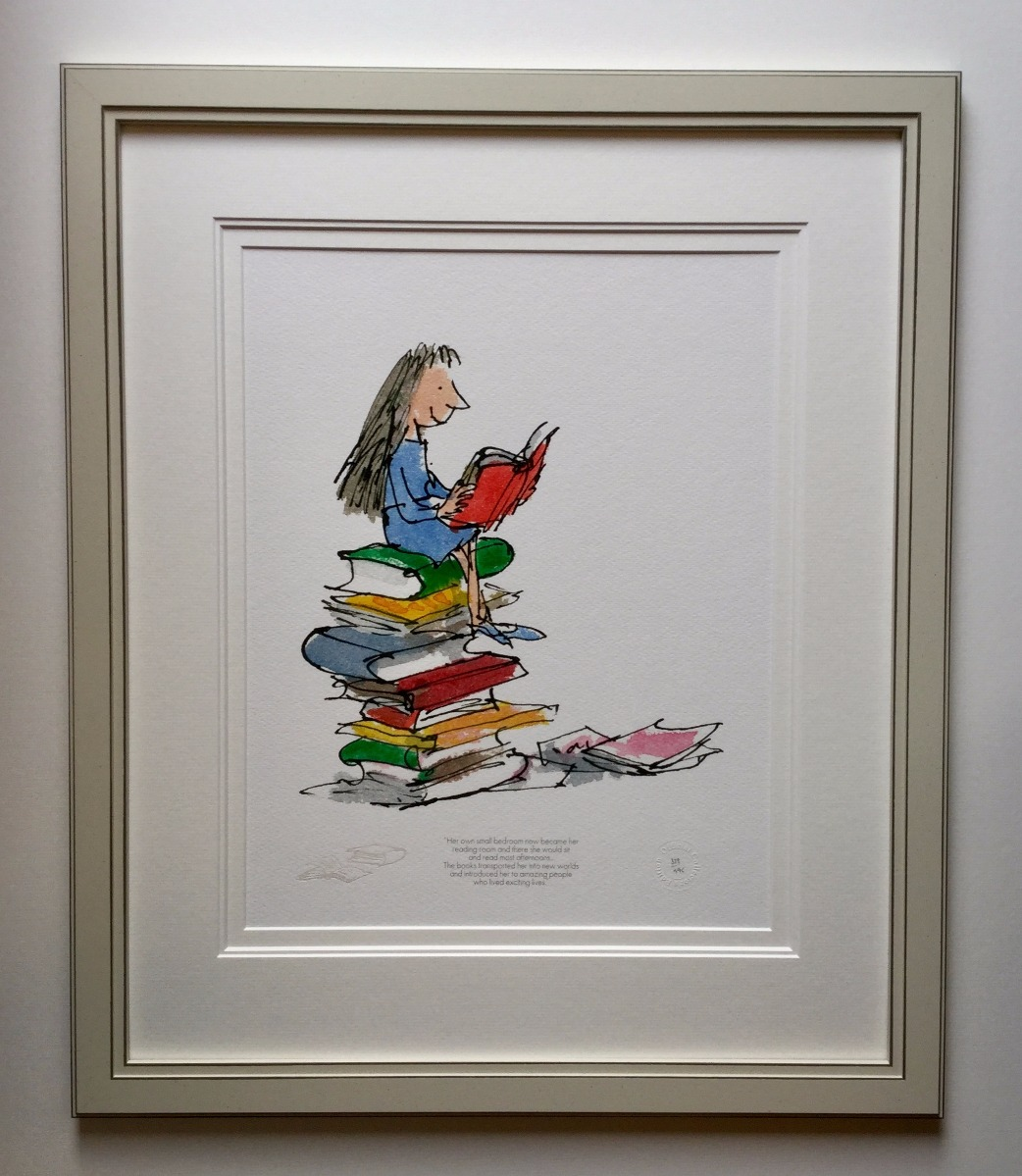 Matilda - Her Own Small Bedroom became Her Reading Room by Quentin Blake
