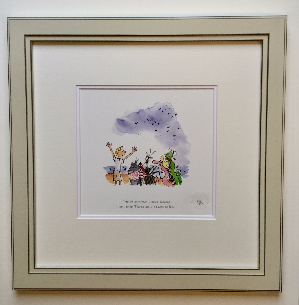 Action Stations! - James Shouted by Quentin Blake