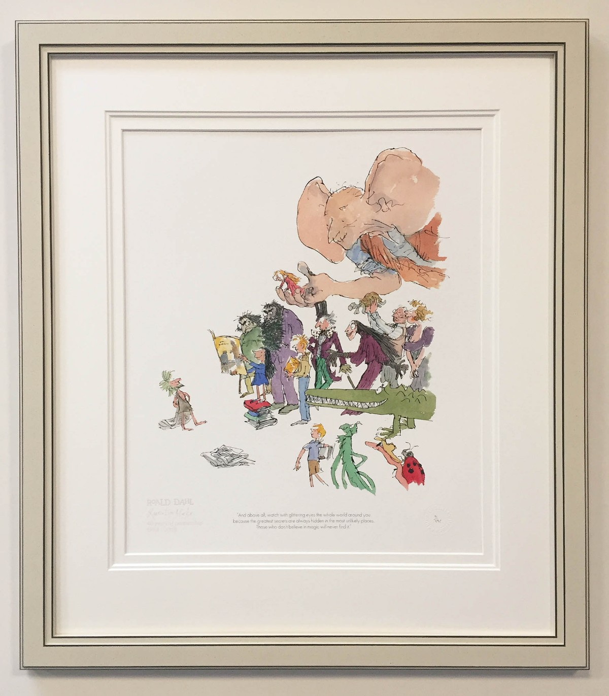 40th Anniversary Roald Dahl and Quentin Blake by Quentin Blake