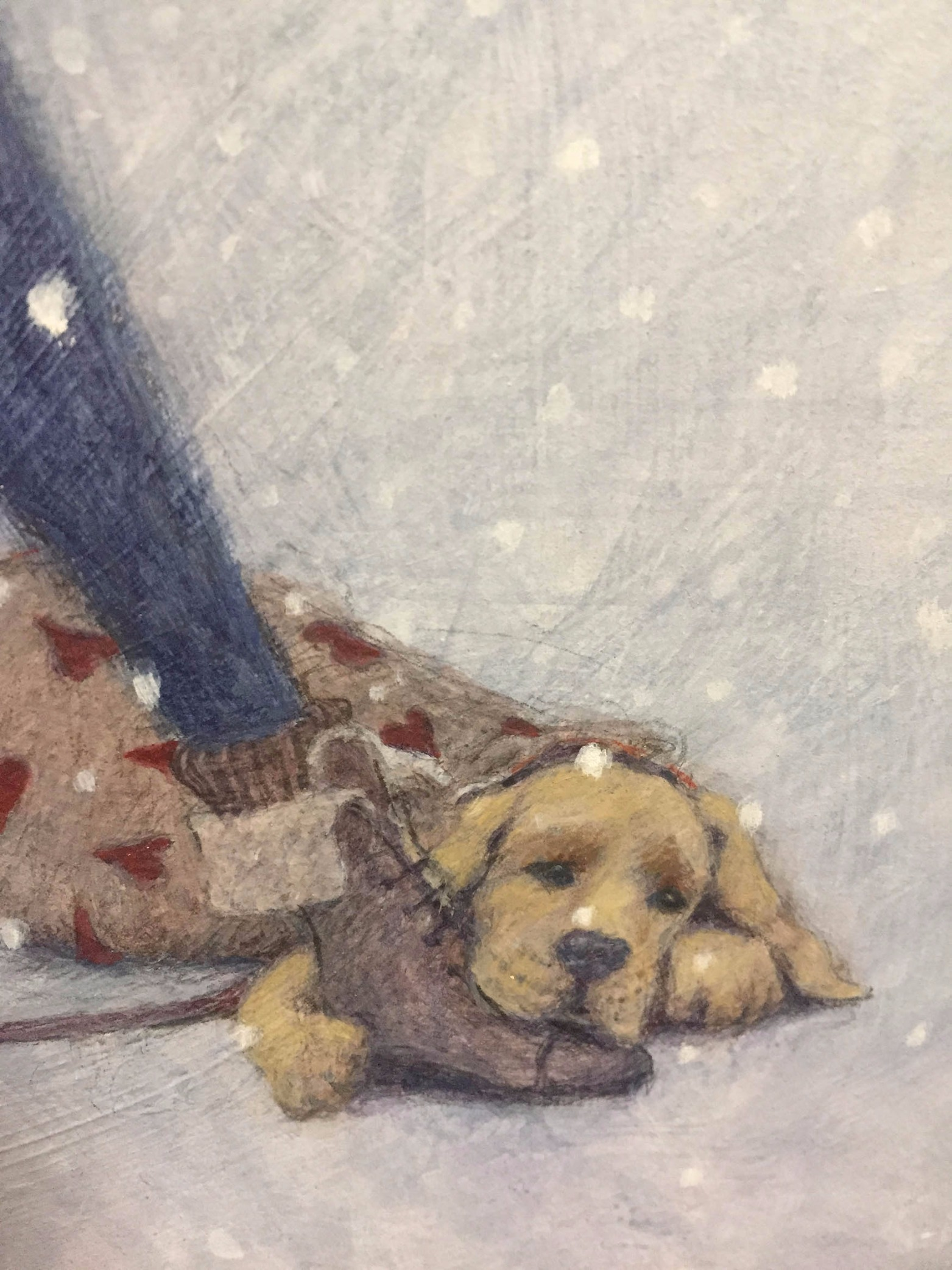 Doctor Zhivago by Gwyn Jones, Film | Figurative | Naive | Dog