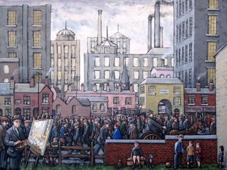 Lowry Painting coming from the Mill by James Milroy